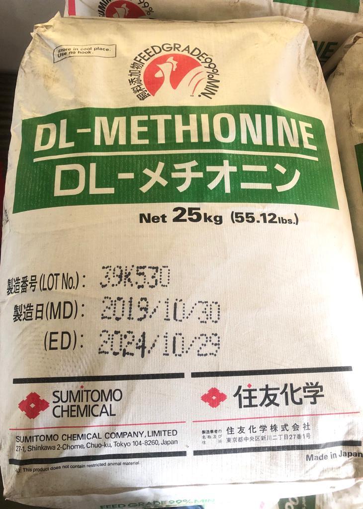 Metionina Por 25 Kg.