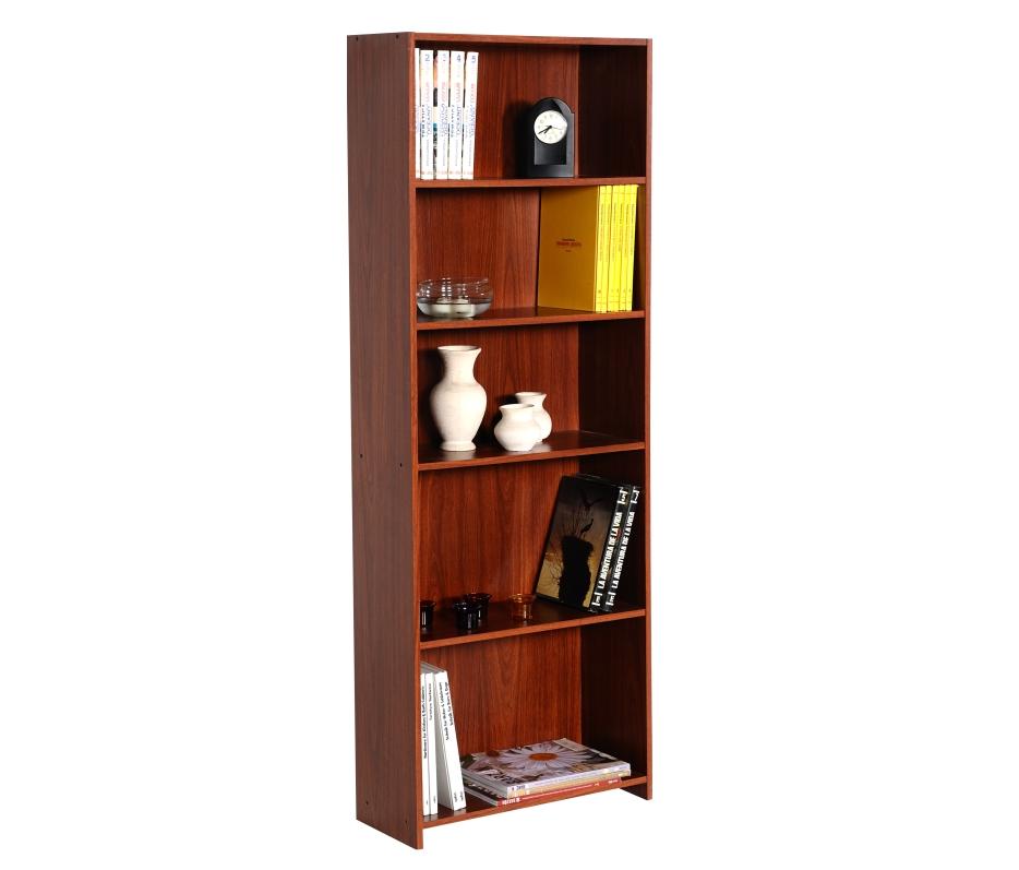 Librero Eco 5 espacios Cedro