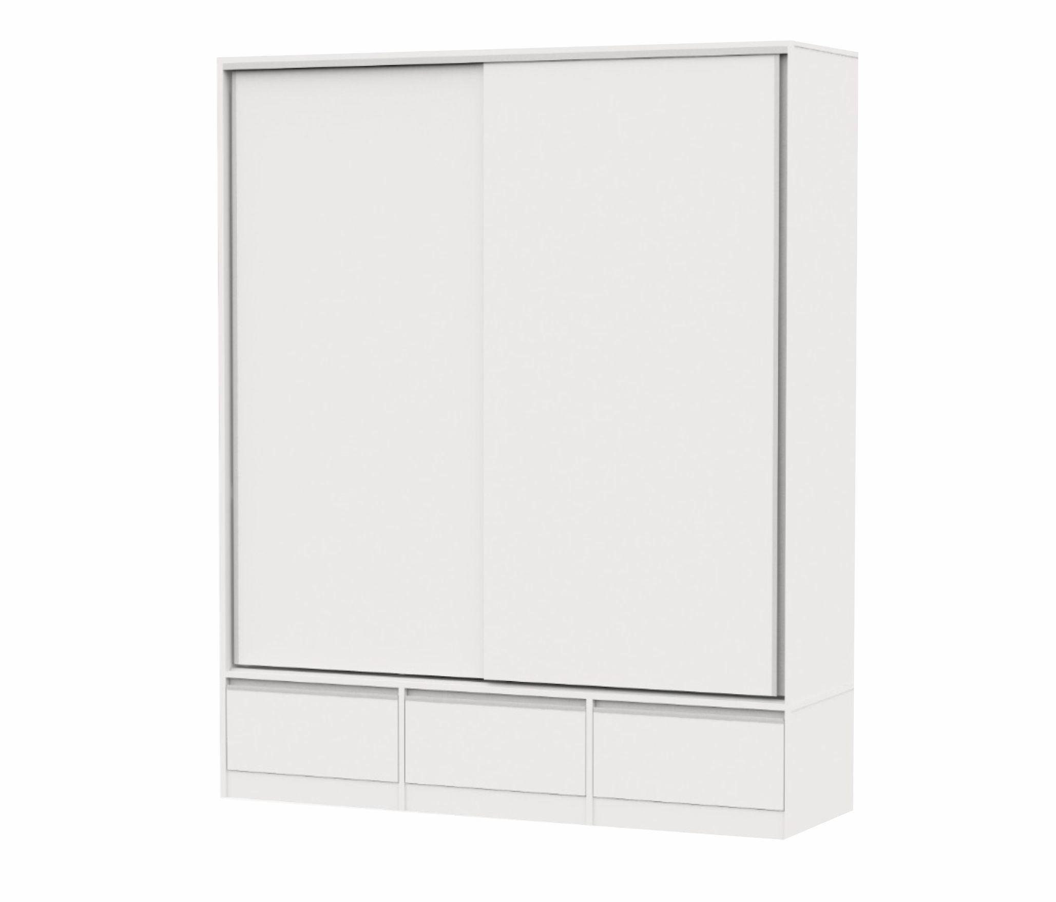 Placard Blanco 2 puertas corredizas PREMIUM