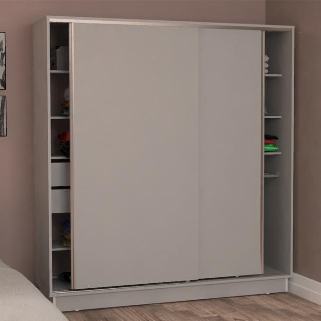 Placard Blanco 2 puertas corredizas