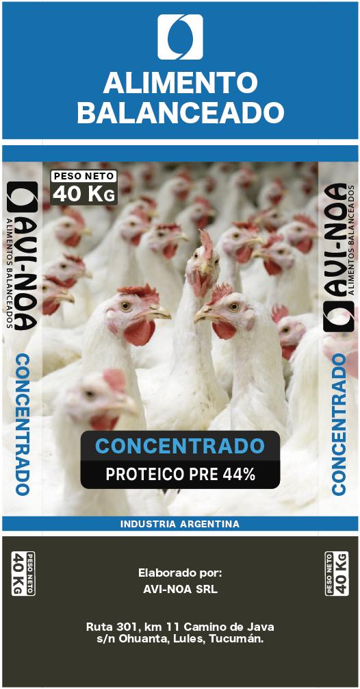 Concentrado Proteico Parrillero Pre 44%