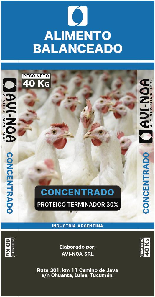 Concentrado Proteico Parrillero Terminador 30%