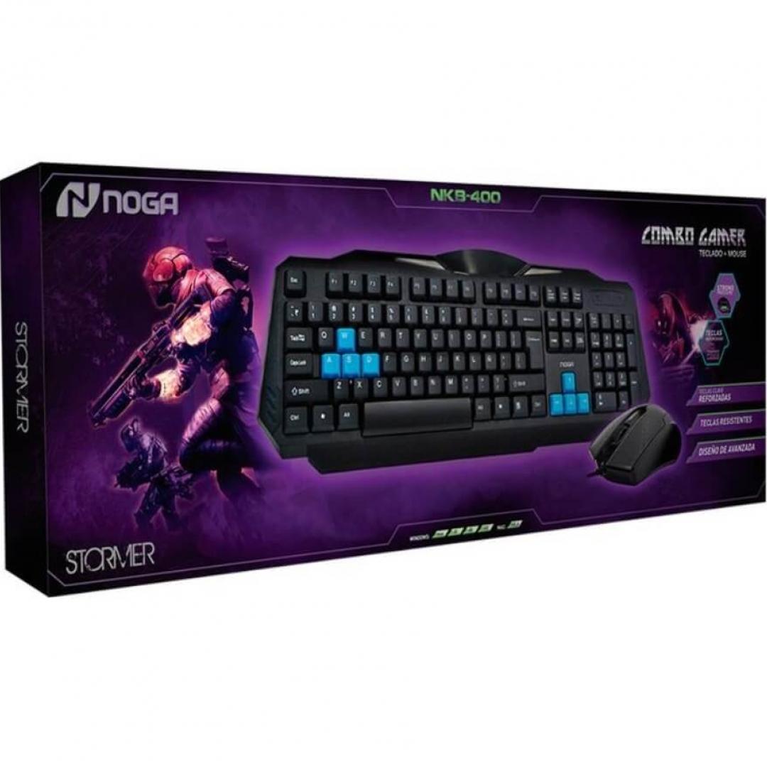 Kit Noganet Teclado y Mouse Gamer Stormer Nkb400