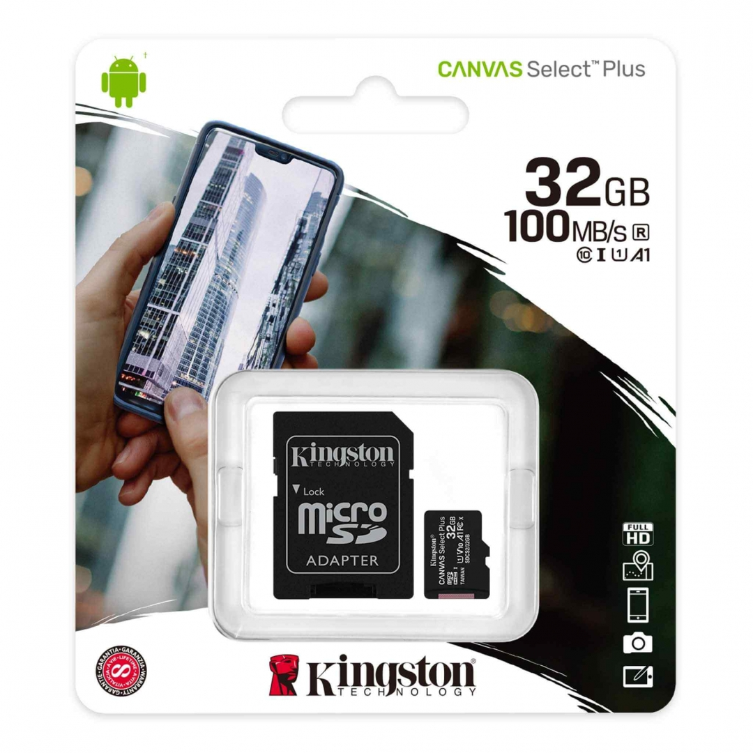 KINGSTON Micro SD 32GB C10 CANVAS SELECT PLUS