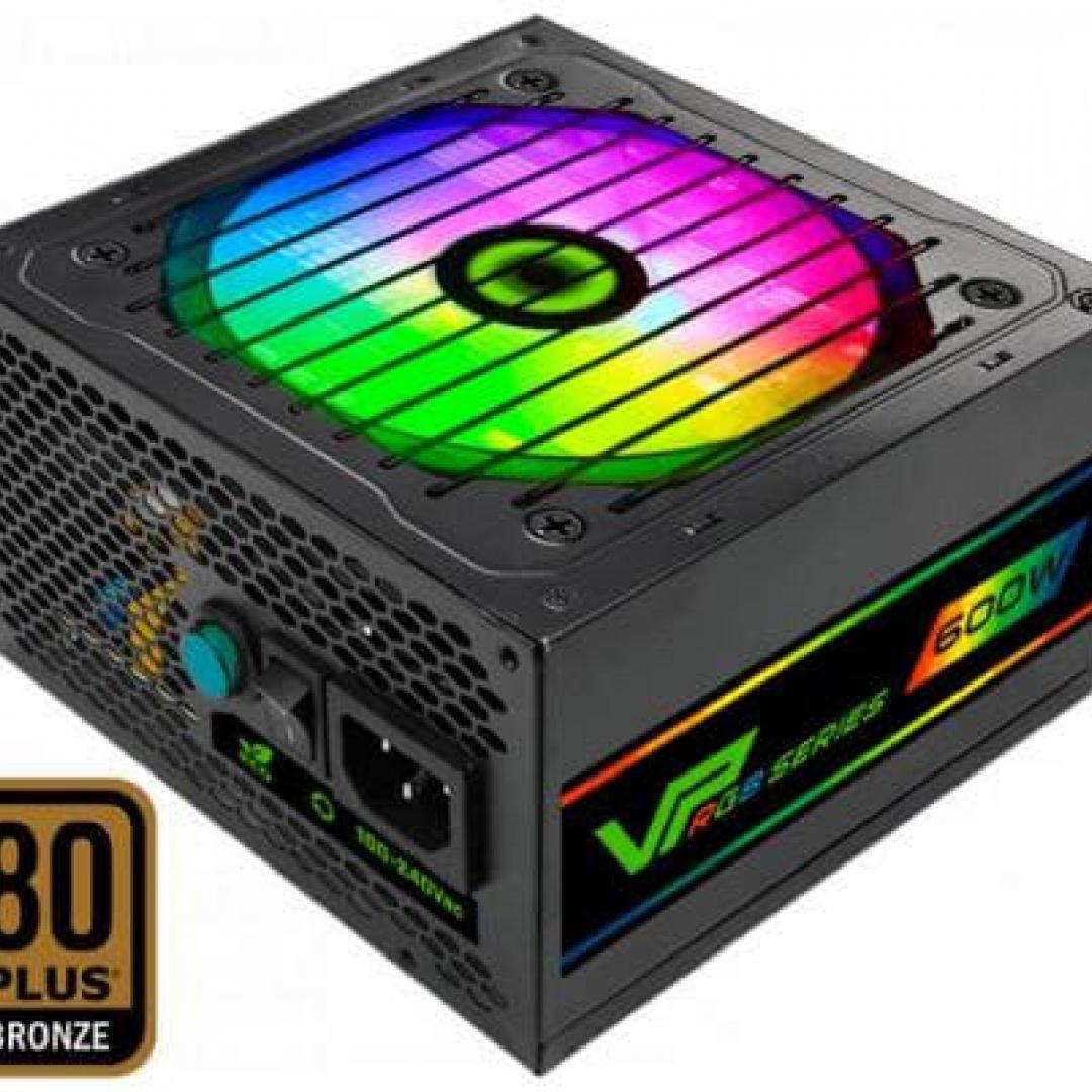 FUENTE 600W GAMEMAX 80 PLUS BRONZE VP-600 FAN 12CM
