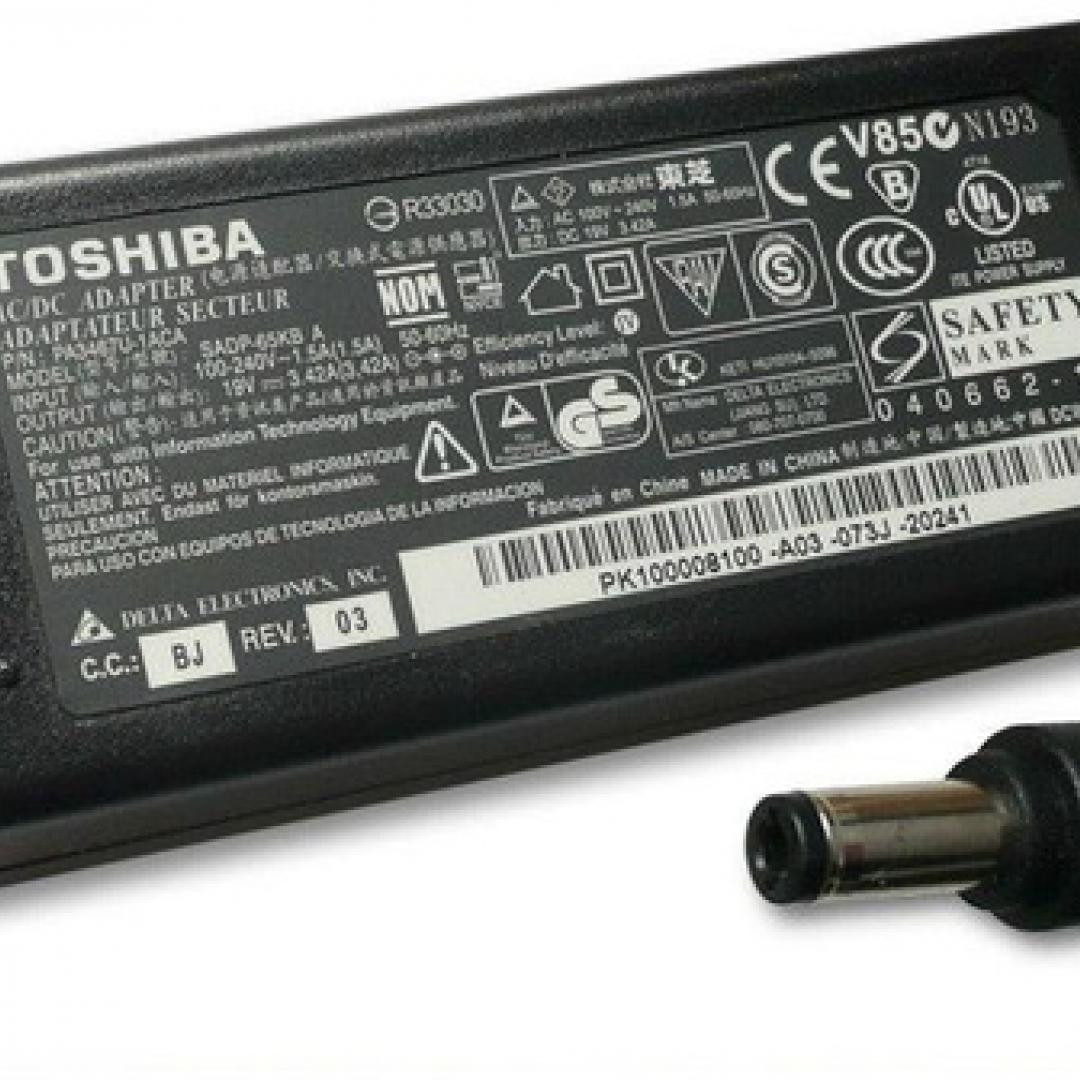 Cargador Toshiba 19v a 3.42 Amp