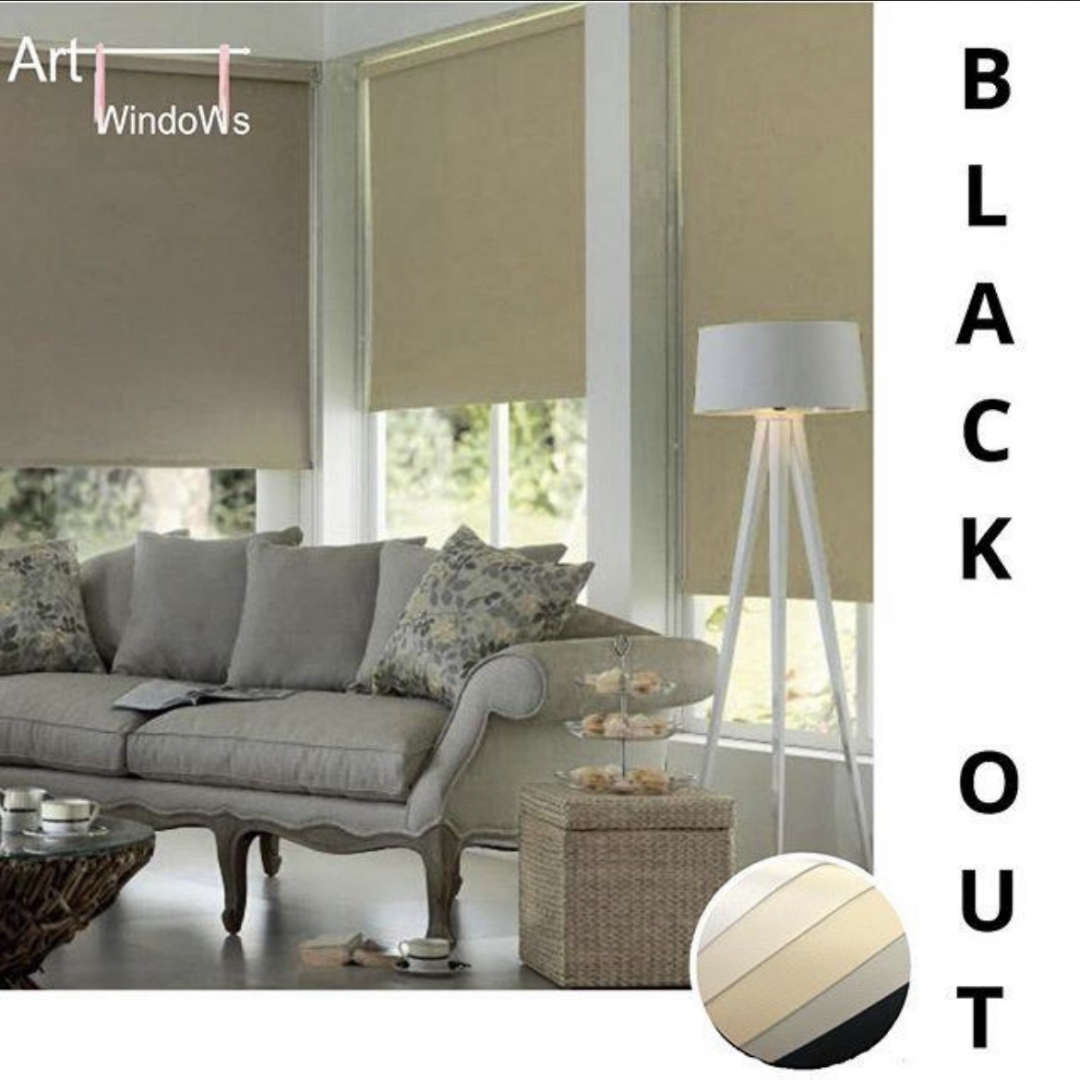 Cortina Roller Black Out Art windows Blanco 110 ancho x 220 alto cm.