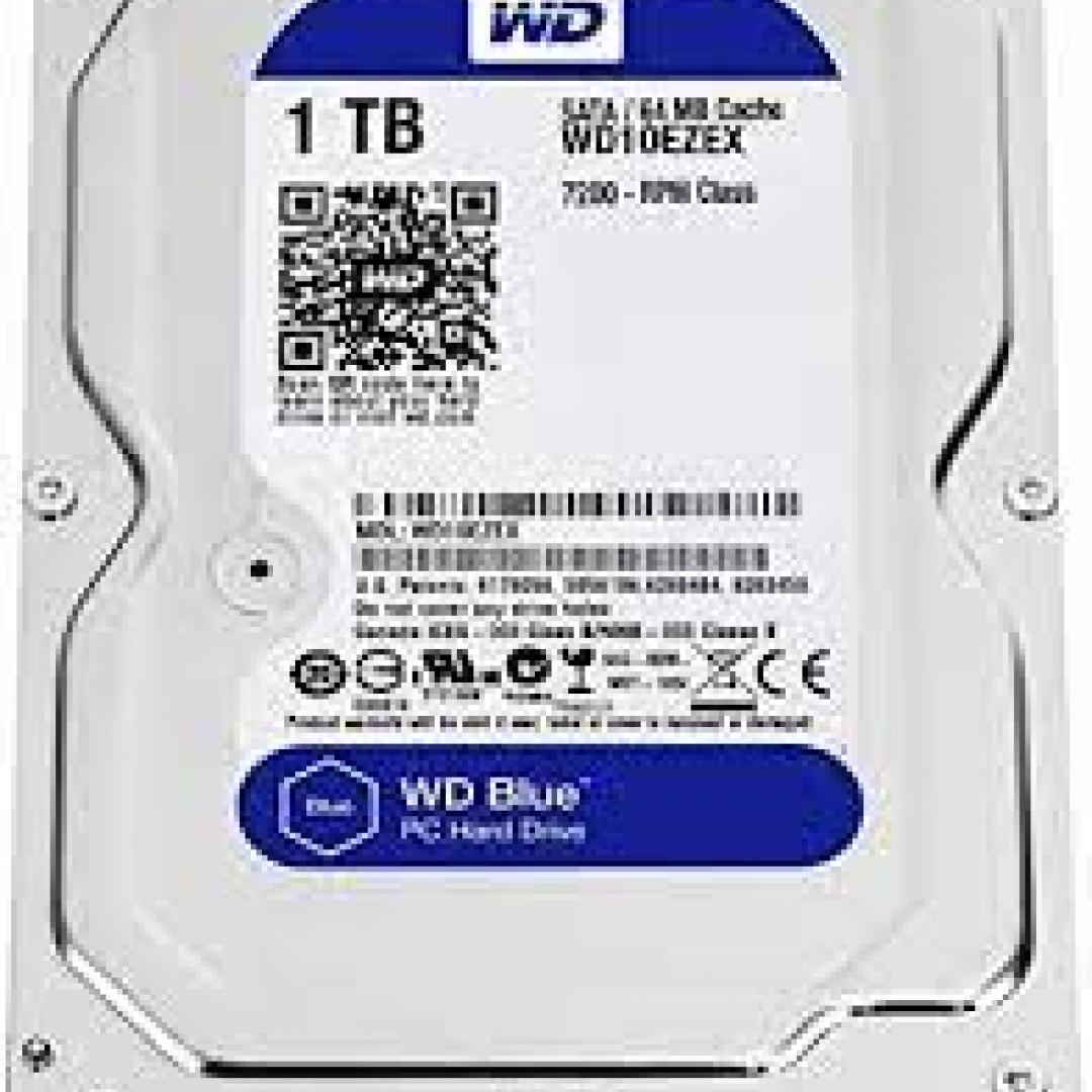 HD 1TB WESTERN DIGITAL BLUE 3.5 SATA 7200 64MB